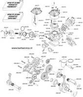 Rotax - Cilinder en Krukas