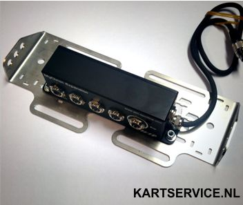 Set ophangbeugels voor MC4 kart datalogbox