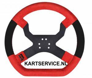 Stuurwiel My-Chron 5 Kart 340 mm rood (met 6 gaten)