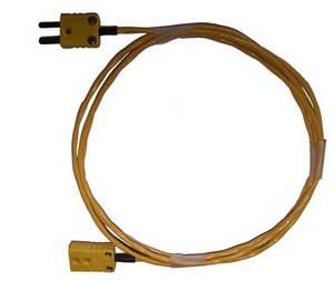 Verlengkabel voor thermokoppel geel 2-pin x 2 pin platte connect