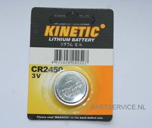 Battery CR2450 merk Kinetic ( voor Alfano Pro )