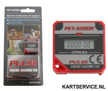 PET- 3200 motor uren teller (zeer klein)