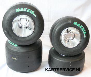 Maxxis SLR set banden 4.50/7.10 met velgen 130/210