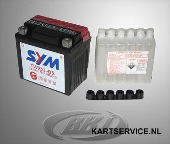 Accu 12V/4Ah YTX5L-BS 114x71x106  (voor RK1)