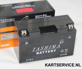 Accu 12 Volt 6 Ah Tashima YT7B-4 151x64x94mm