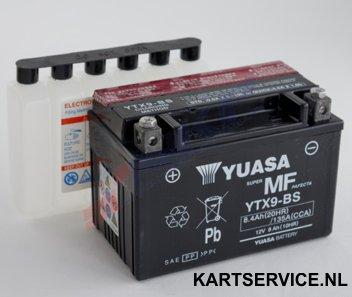 Accu  12V/8.4Ah  Yuasa YTX9-BS 151x87x105mm