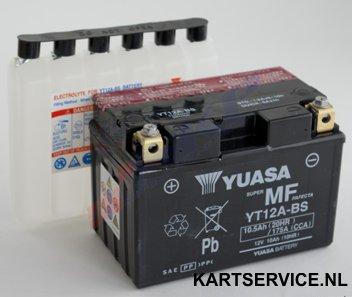 Accu  12V/10Ah  Yuasa YTX12-BS 151x87x105mm