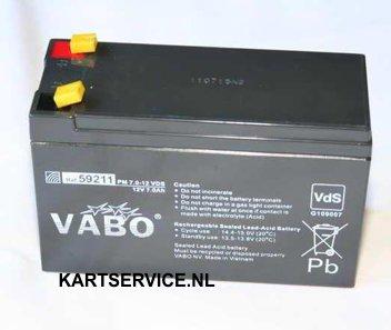 Accu  12V  7.0 Ah Vabo 151mm x 65mm x 94mm