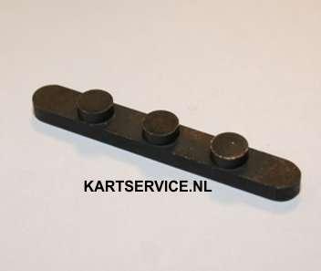 Spie voor achteras met 3 puntjes 8mm (L=60, H=4.0, 15mm afstand)