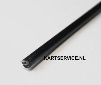 Buitenkabel zwart 4 0 mm x 6 6 mm per meter kartservice for Buitenkabel