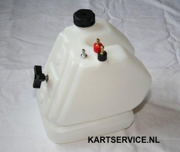 Tank cpl. 8.5 liter met snelsluiting + extra aansluiting KG