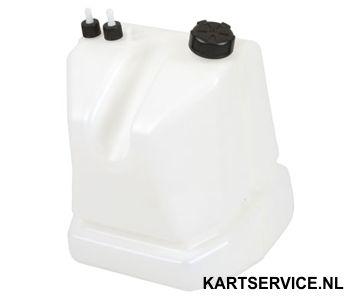 Tank cpl. 8.5 liter met snelsluiting (zwarte doppen) RR
