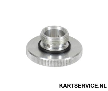 Dellorto plug aluminium voor vlotterbak (39,15mm)