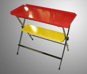 Werktafel rood/geel