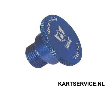 Schroefdop aluminium voor bougiegat blauw Wildkart