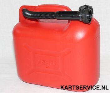 Jerrycan 10 liter kunststof (benzinetank)