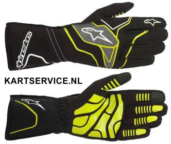 Alpinestars handschoenen Tech 1-KX zilvergrijs/blauw