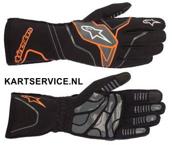 Alpinestars handschoenen Tech 1-KX zwart/fluor oranje
