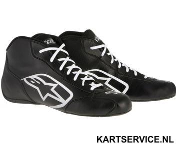 Alpinestars schoenen Tech 1-K START zwart/wit