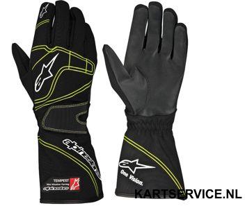 Alpinestars Tempest  regen handschoenen zw/fluo/groen