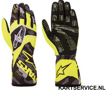 Alpinestars handschoenen Tech 1-K Race ZWART/FLUO GEEL