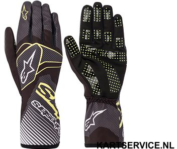 Alpinestars handschoenen Tech 1-K Race  ZWART/FLUO ORANJE