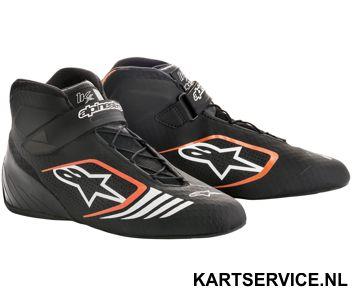 Alpinestars schoenen Tech 1-KX zwart/fluo oranje