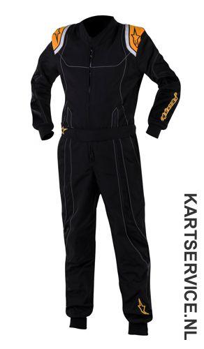 Alpinestars K-MX 9 Kinder overall zwart/fluo oranje