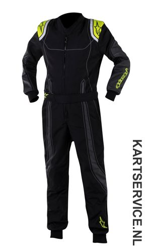 Alpinestars K-MX 9 Kinder overall zwart/fluo geel