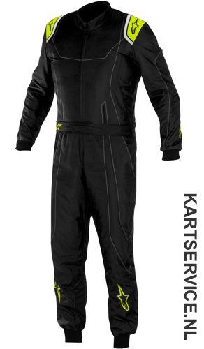 Alpinestars K-MX 9 overall zwart/fluo geel