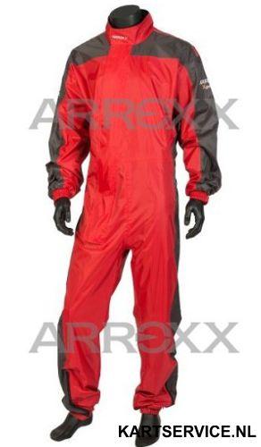 Arroxx regenpak Xpro in de  kleur rood/grijs