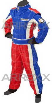 Arroxx junior Level 2 overall rood-blauw-wit
