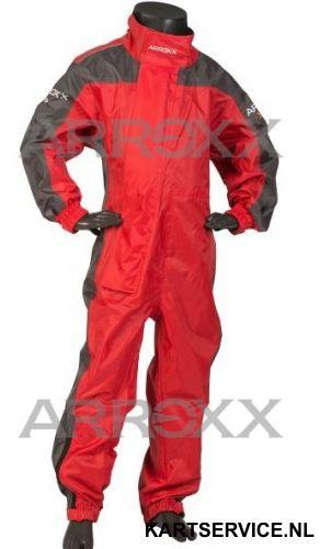 Arroxx regenpak Xpro JUNIOR in de  kleur rood/grijs