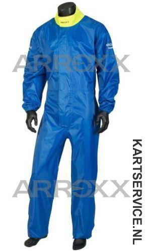 Arroxx regenpak Xbase in de  kleur blauw/geel