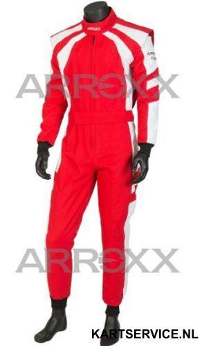 Arroxx Overall Cordura Level 2 Xbase Rood-Wit