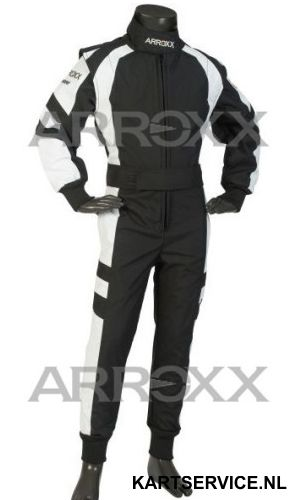 Arroxx Overall Cordura Junior Level 2 Xbase Zwart-Wit