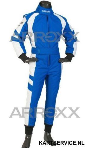 Arroxx Overall Cordura Junior Level 2 Xbase Blauw-Wit