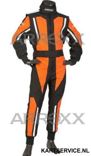 Arroxx Overall Cordura Junior Level 2 Xbase Zwart-Oranje-Wit
