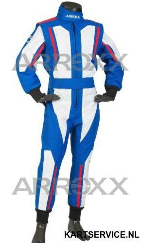 Arroxx Overall Cordura Junior Level 2 Xbase Blauw-Wit-Rood