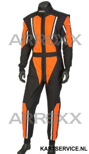 Arroxx Overall Cordura Level 2 Xbase Zwart-Oranje-Wit