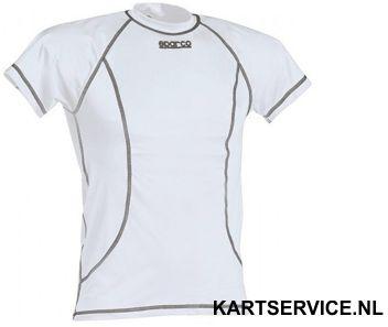 Sparco T-shirt Basic korte mouwen WIT