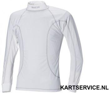 Sparco T-shirt Basic lange mouwen WIT