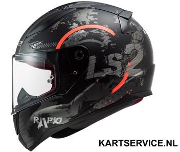 Helm LS2 RANGER  zwart/rood