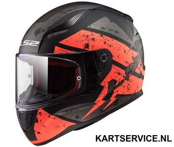 Helm LS2 DEADBOLT zwart/fluo oranje