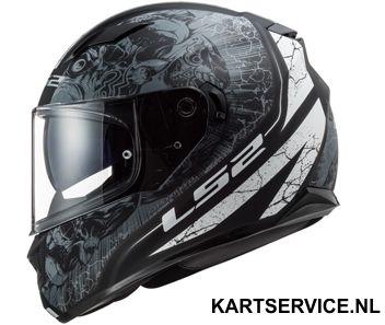 Helm LS2 GRID zwart/rood/wit
