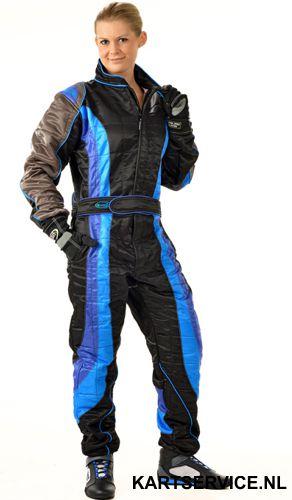 Overall Level 2 merk Speed SR2 zwart/blauw/grijs