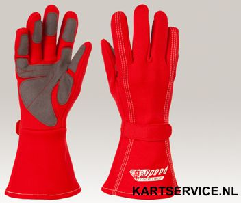 Handschoenen Speed rood