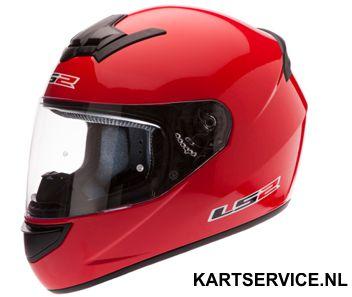Helm LS2 rood