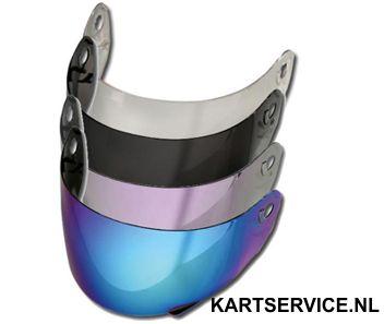 Vizier voor Helm LS2  spiegel vizier zilver