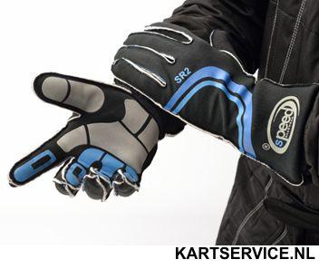 Handschoenen Speed SR2 zwart/blauw